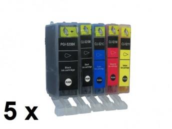5 Patronen für Canon PGI-521BK / CLI-521 Preis 13,99 €
