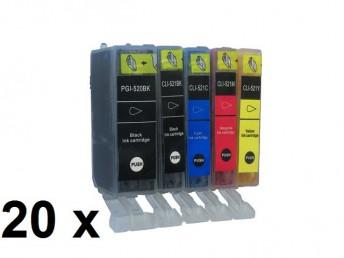 10 Patronen für Canon PGI-521BK / CLI-521 mit Chip Preis 17,99 €