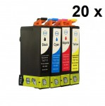 20 Druckerpatronen für Epson Stylus T0711-T0714 (C,M,Y,BK) Preis 22,50 €