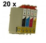 20 Druckerpatronen für Epson Stylus(C,M,Y,BK) T0441-T0444 Preis 18,49€