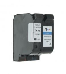 2 Druckerpatronen wiederbefüllt für HP45 und HP78 Schwarz /Color
