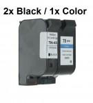 2/2 Druckerpatronen wiederbefüllt für HP45 und HP78 Schwarz /Color