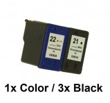 2/1 Druckerpatronen wiederbefüllt für HP 21 Black / HP22Color