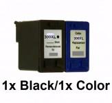 1Druckerpatrone wiederbefüllt für HP300XL Color