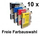 10Patronen für Brother LC-980/1100 Preis 9,80 € inkl. MwSt.