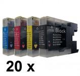 20 Patronen für Brother LC-900 Preis 16,50 € inkl. MwSt.