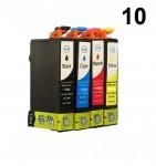 10 Patronen für Epson Stylus T01281-T01284 (C,M,Y,BK) Preis 10,79€