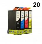 20 Patronen für Epson Stylus T1291-T1294 (C,M,Y,BK) Preis17,99 €