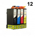 12 Patronen für Epson Stylus T1291-T1294 (C,M,Y,BK) Preis 12,49 €