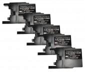 5 x Patronen Schwarz/black für Brother TYP  LC-1220/1240/1280                      Preis  7,99€