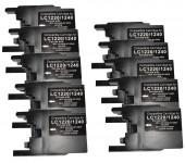 10 x Patronen Schwarz/black für Brother TYP  LC-1220/1240/1280                      Preis 21,99 €