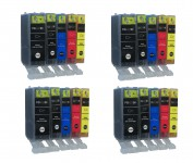 20 Patronen für Canon PGI-525BK / CLI-526 mit Chip