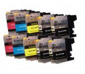 10 Druckerpatronen für Brother LC-123/LC-125/LC-127 mit Chip