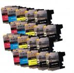 20 Druckerpatronen für Brother LC-123/LC-125/LC-127 mit Chip