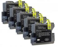 5 komp. Druckerpatronen (Schwarz) für Brother LC-970/1000 Preis6,70 € inkl.MwSt.