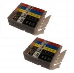 10 Druckerpatronen für Canon PGI-550/CLI-551 mit Chip