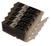 5 Druckerpatronen für Canon PGI-550/Schwarz XL mit Chip